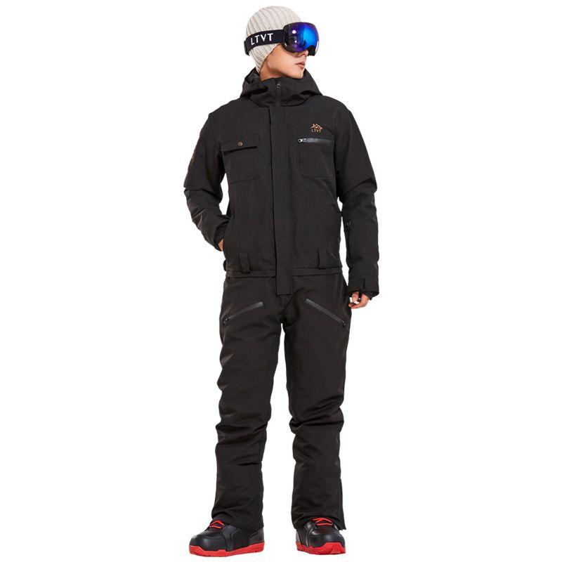 2018 neue Winter Ski Anzug Männer Ein Stück Schnee Overall Mountain Ski Wasserdicht Dicke Warme Snowboard Snowboarden Jacken Hosen