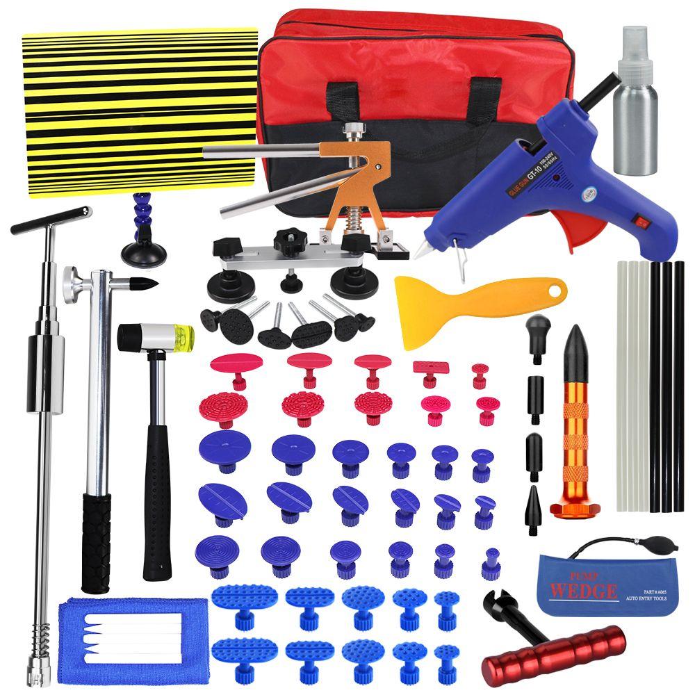 PDR Tools Set Paintless Dent Repair Car Dent Removal Hand Tool Set PDR Reflector Board dent puller Slide Hammer glue gun tools