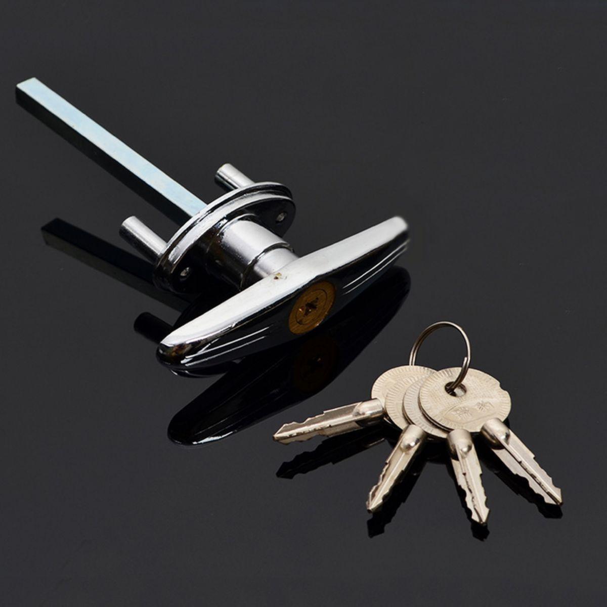Hot Mayitr Garage Door Opener T Lock Handle with 2/3/4 keys Secure For Caravans & Trailers