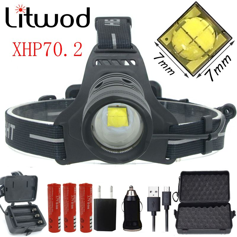 Plein 23 $-4 Z20 2808 32 W D'origine XHP70.2 puissance Phare led phare 42920lm puissant tête flash lampe zoom lampe frontale lanterne