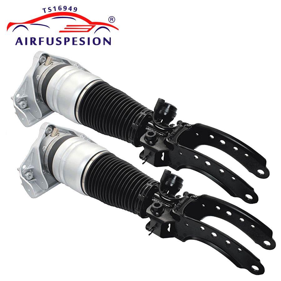 Paar luftfederung front strut für AUDI Q7 für VW TOUAREG für PORSCHE CAYENNE air frühling pneumatische dämpfer stoßdämpfer