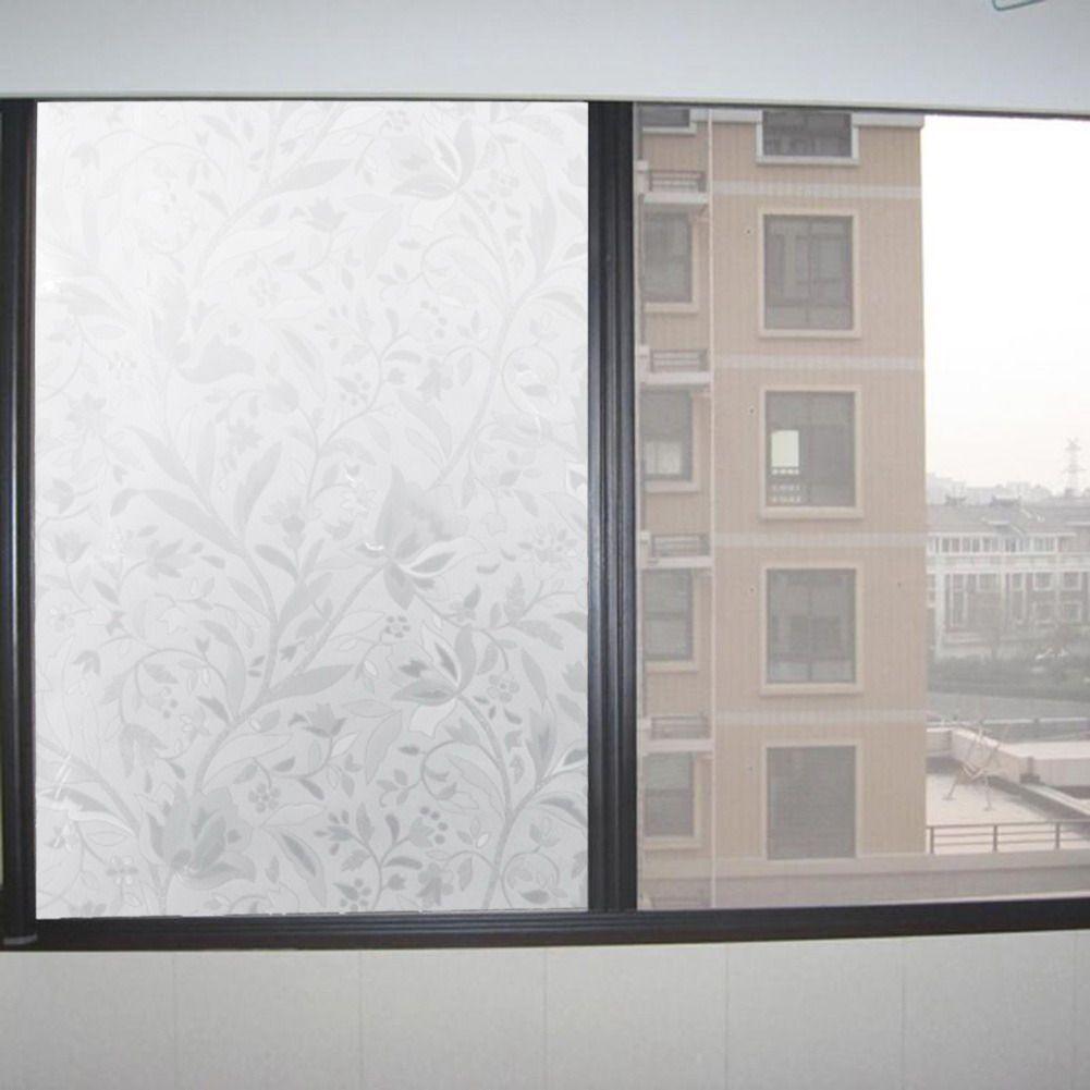Elegante blume reben textur Selbstklebende Statische Privatsphäre statische freie gel Glasfenster Film Wärmedämm Stick