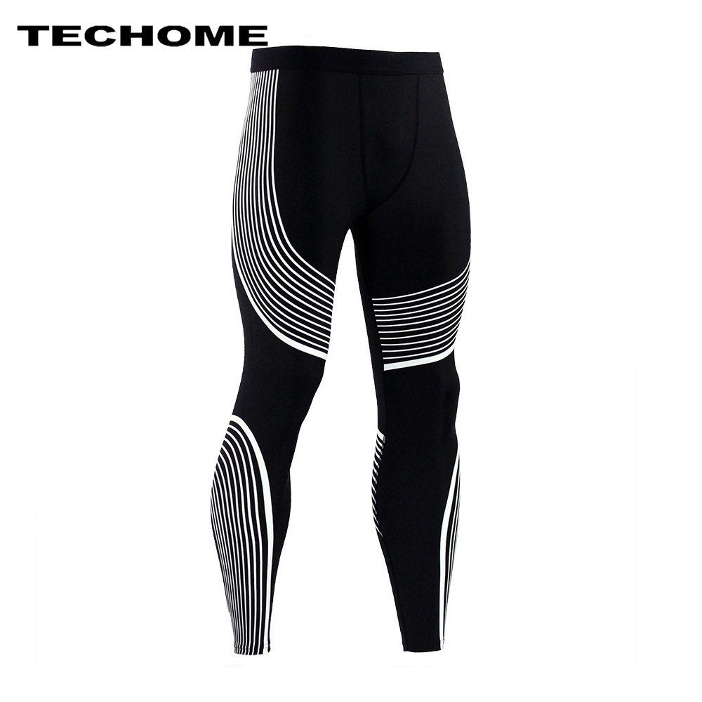 2017 ropa de marca hombres Pantalones nueva compresión Pantalones Bases capa Medias ejercicio fitness larga Leggings Pantalones ocio Pantalones hombres
