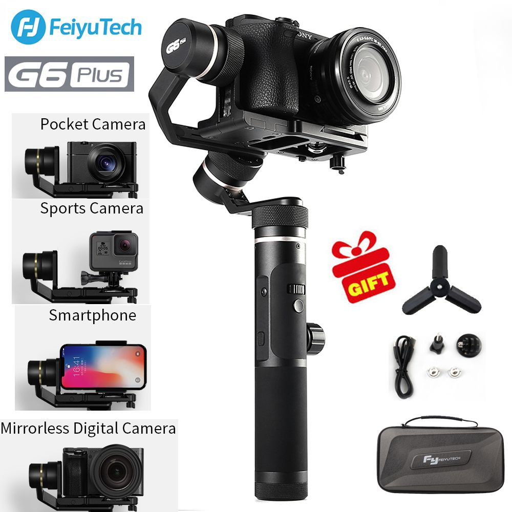 FeiyuTech Feiyu G6 Plus 3-Axis Handheld Gimbal Stabilizer G6PLUS for Mirrorless Camera Pocket Camera GoPro Smartphone iphone