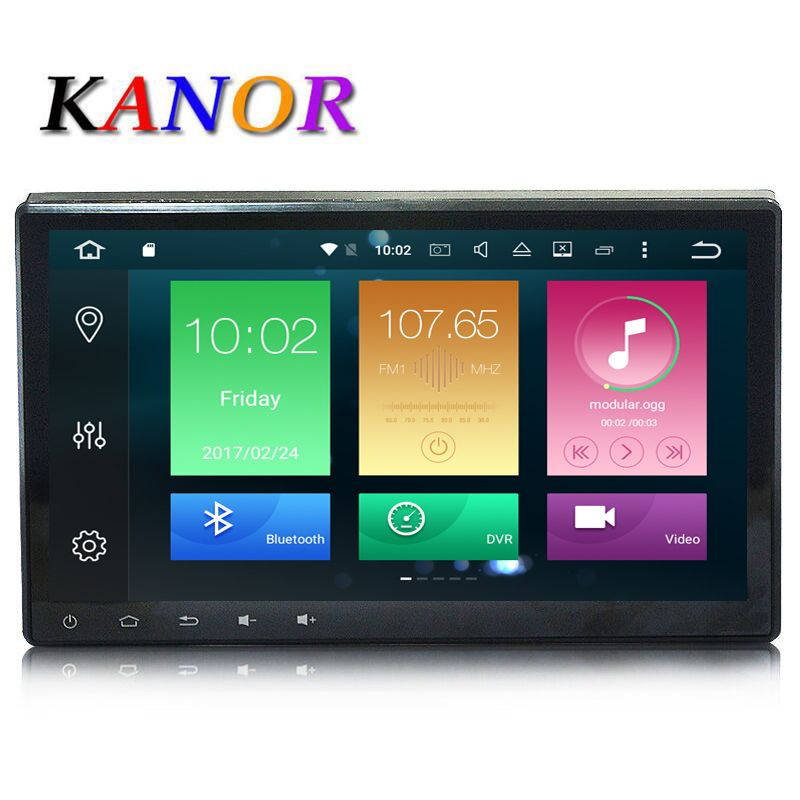 KANOR Android 8.0 Octa Core 4G+32G 10.1 inch Double 2 din Car GPS DVD Player Bluetooth Stereo Sat Nav RDS WIFI Audio Multimedia
