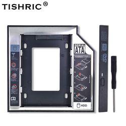 TISHRIC Универсальный алюминиевый 2nd HDD Caddy 12,7 мм SATA 3,0 для 2,5