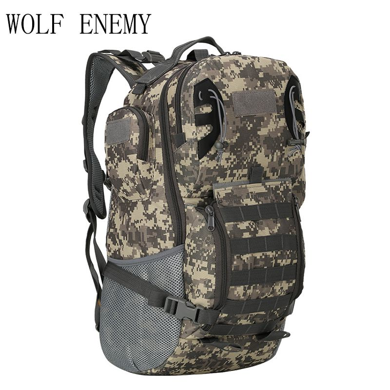 WOLF ENEMY Military Tactics Mountaineering Backpack Wear-resistant 800D Oxford Hiking Bag Outdoor Sports Bag