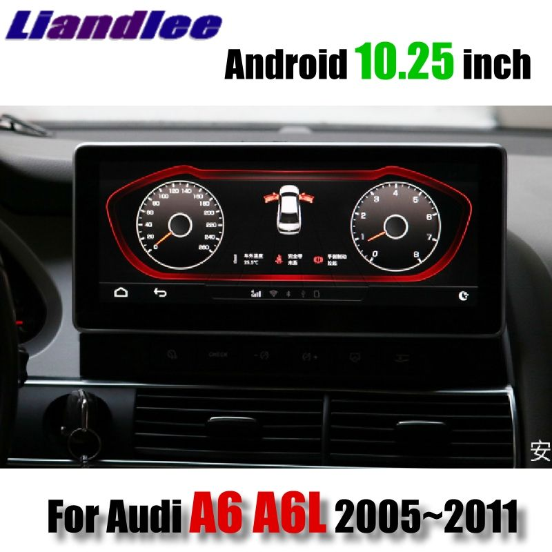 Liandlee Auto Multimedia Player NAVI Für Audi A6 A6L 2005 ~ 2011 MMI 10,28 zoll CarPlay Adapter 4G RAM radio Stereo GPS Navigation