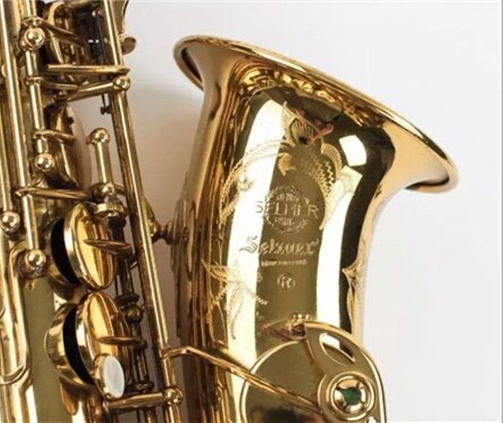 SELMER Mark VI Hohe Qualität Alto Eb Saxophon Professionelle Musical Instrument Messing Gold Überzogene Sax Perle Tasten Mit Fall