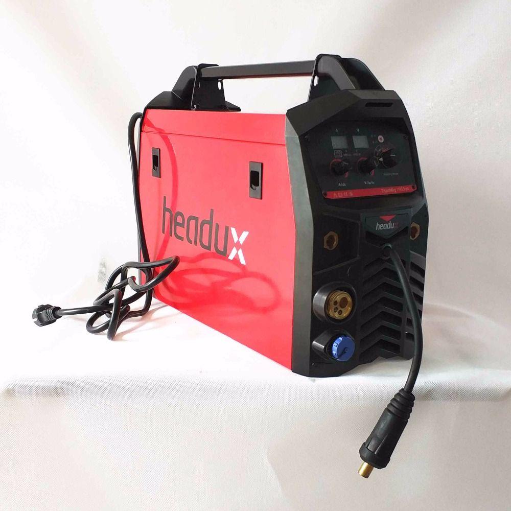 Professional 195A Synergic MIG Welding Machine MIG/MAG TIG MMA Hot Start Arc Force IGBT Inverter MIG Welding Equipment