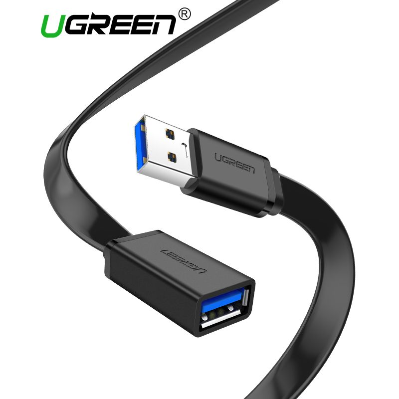 Ugreen USB 3.0 Kabel Flache USB Verlängerung Kabel Männlich zu Weiblich Daten Kabel USB3.0 Extender Kabel für PC TV USB Verlängerung kabel