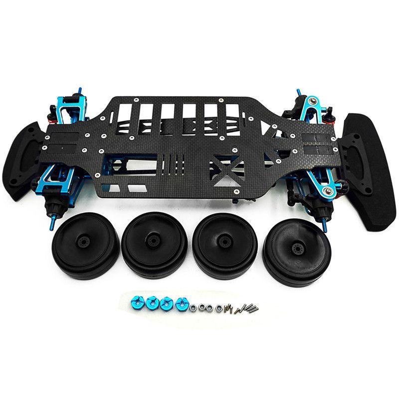 Neueste Legierung Carbon Welle Stick 1/10 RC Touring Auto Rahmen Kit für TT01 TT01E Für 1/10 RC Crawler Auto