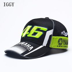 IGGY Haute Qualité MOTO GP 46 Moto 3D Brodé F1 Racing Cap Hommes Femmes Snapback Caps Rossi VR46 Casquette de baseball YAMAHA Chapeaux