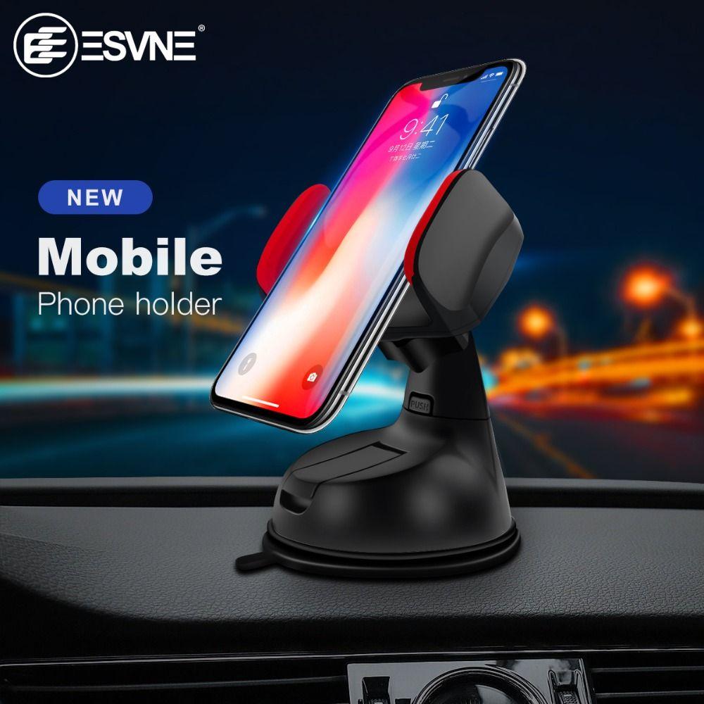 ESVNE Car Phone Holder Universal Windshield Mobile Phone Holder Stand 360 Mount Support cellular Phone Car Holder for Smartphone