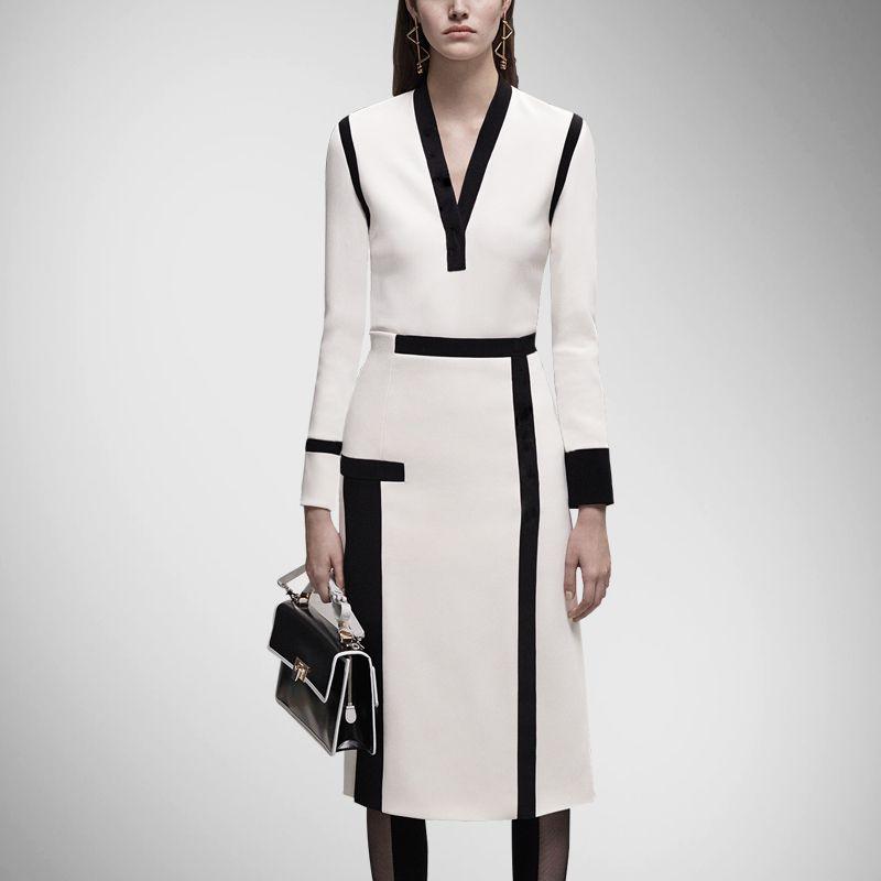 Heißer verkauf begrenzte natur keine regelmäßige feste beiläufige baumwolle robe dress europa und die großen high-end medium lange ärmeln dress
