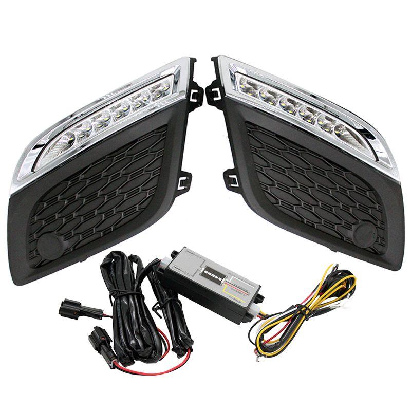 Überzug Stil LED Tagfahrlicht LED DRL Led-tageslicht mit Gedimmt Funktion für Volvo XC60 2011 2012 2013