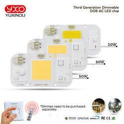 COB Светодиодный прожектор AC110V/220 V светодиод dob лампы дешевые компоненты умная ИС (интеграционная схема), 20 Вт, 30 Вт, 50 Вт, ручная сборка энергос...