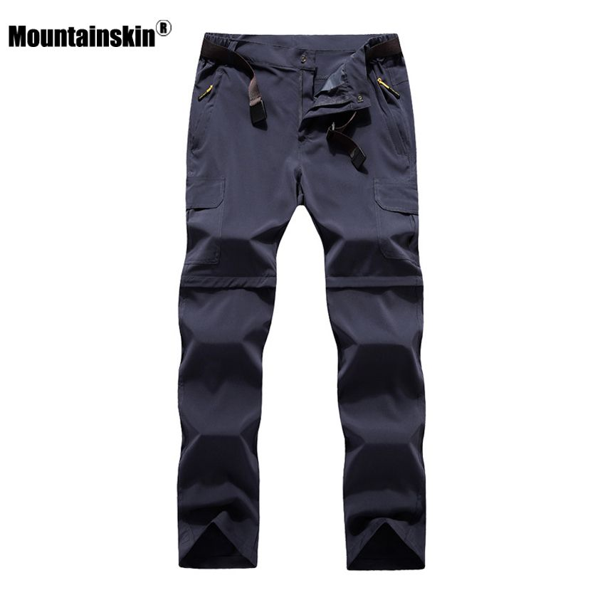 Mountainskin 6XL Men's Summer Quick Dry Removable Pants Outdoor Sport Trousers Hiking Trekking Fishing Camping Male Shorts VA206