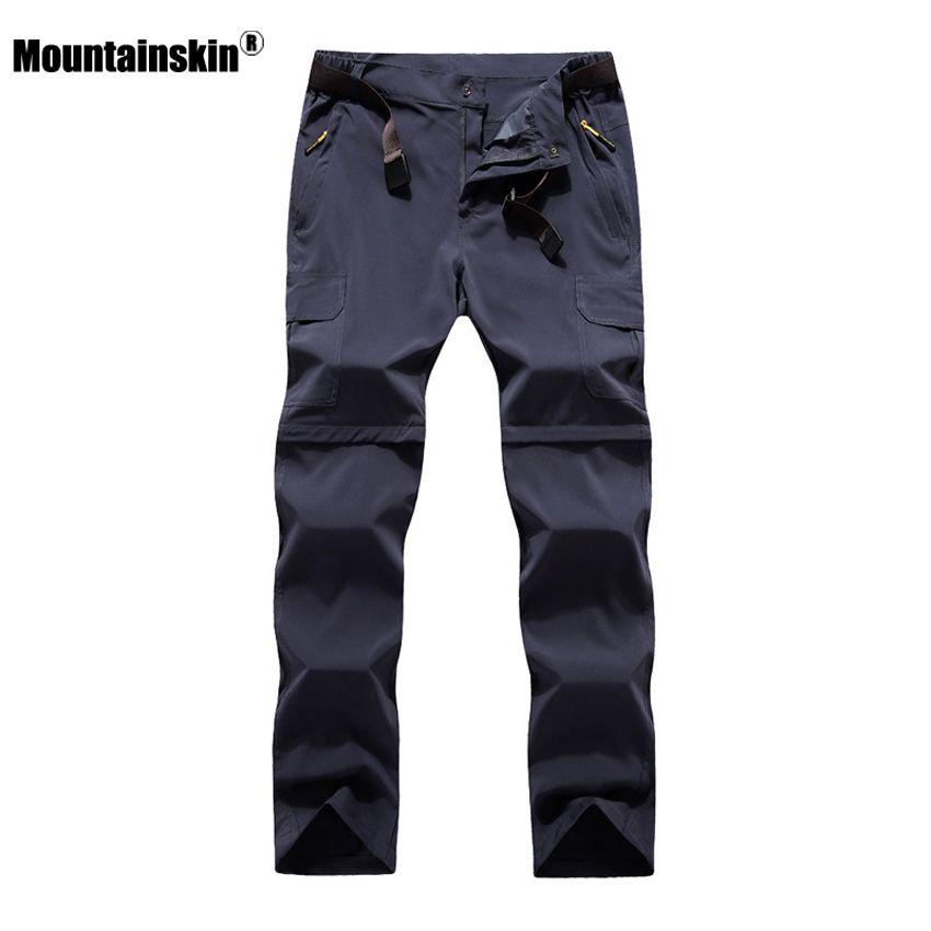Mountainskin 6XL hommes D'été À Séchage Rapide pantalon amovible En Plein Air pantalons de sport Randonnée Trekking De Pêche Camping Mâle Shorts VA206