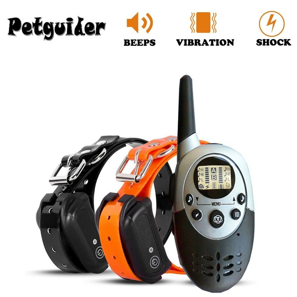 1000M Pet Dog Training Collar Pet Training Collar Dog Trainer Waterproof Rechargeable Remote Electric Shock For Two Dogs