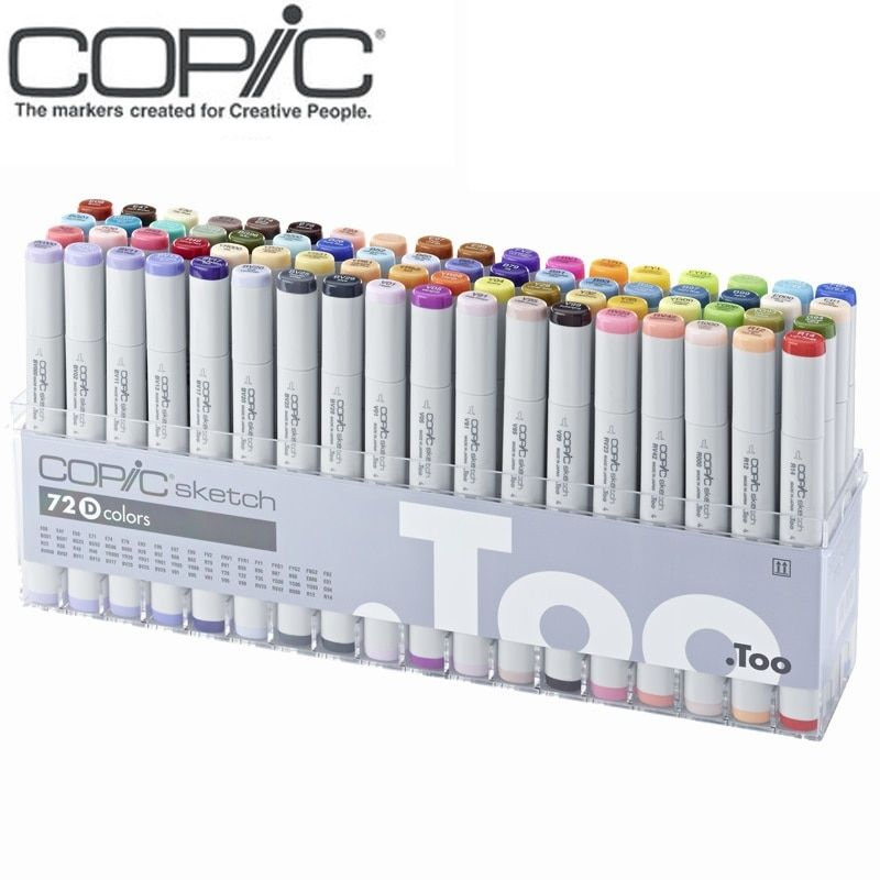 Freeshipping Copic skizze 72 farben anzüge art marker 2 generationen stift weichen kopf master professional animation design kleidung