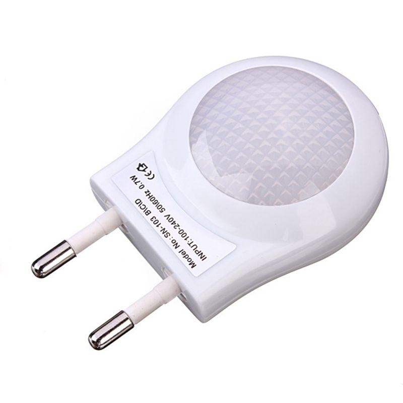 Hohe Qualität Mini LED 0,6 Watt Nachtlicht Beleuchtung Auto Sensor Baby Kid Schlafzimmer Lampe Weiß Eu-stecker