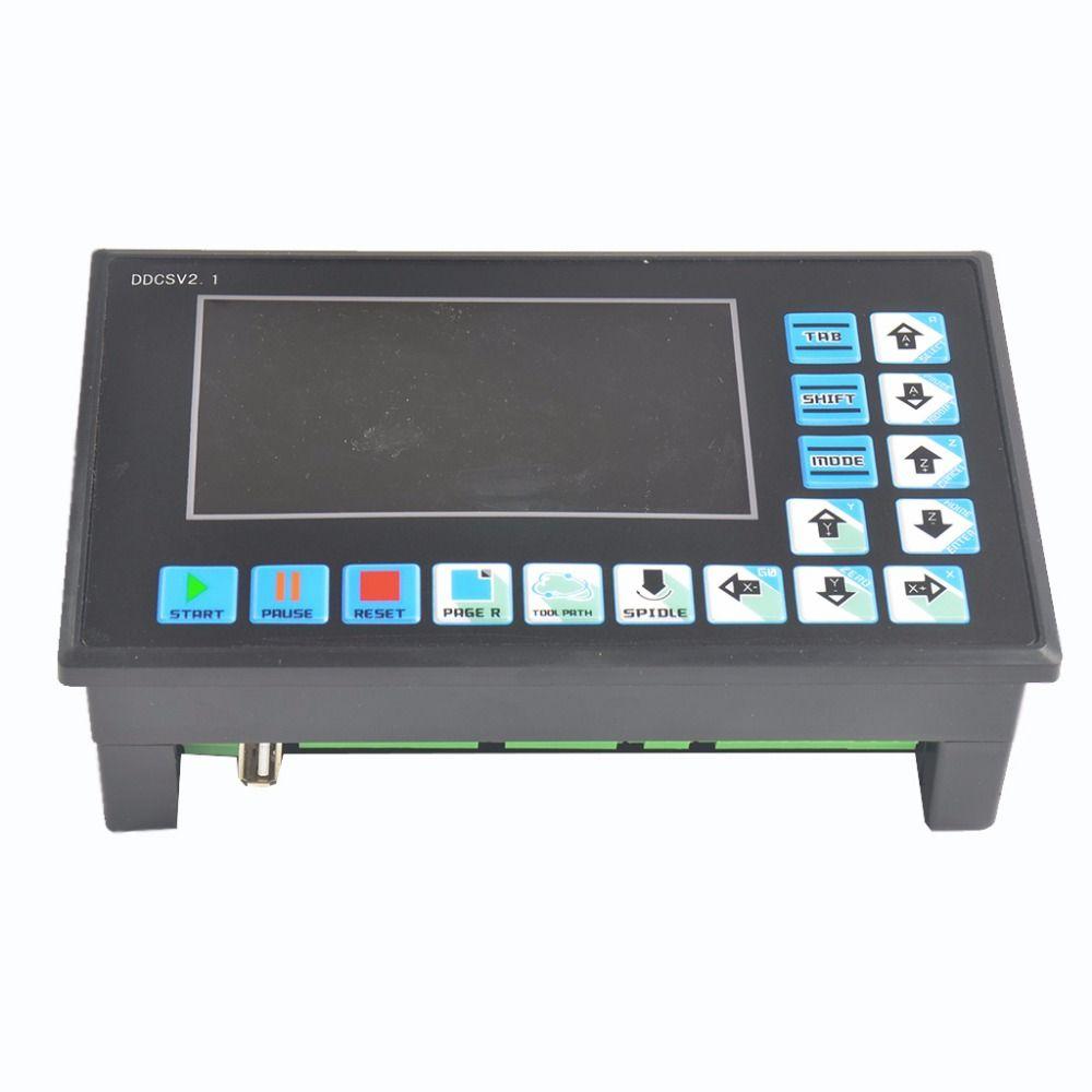 DDCSV2.1 Engraving machine CNC 4 axis CNC system step servo replace NC Studio MACH3 offline controller