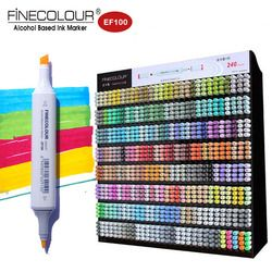 Finecolour 240 Twin Graphic Sketch Marker Fine color EF100 Alcohol Drawing Markers Architecture/Manga Caneta Pen for Kid/Artist