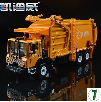 Sanitation trucks Garbage trucks 1:24 car model diecast alloy origin kids toy KDW 625040 620040 Trailer Kaidiwei gift boy