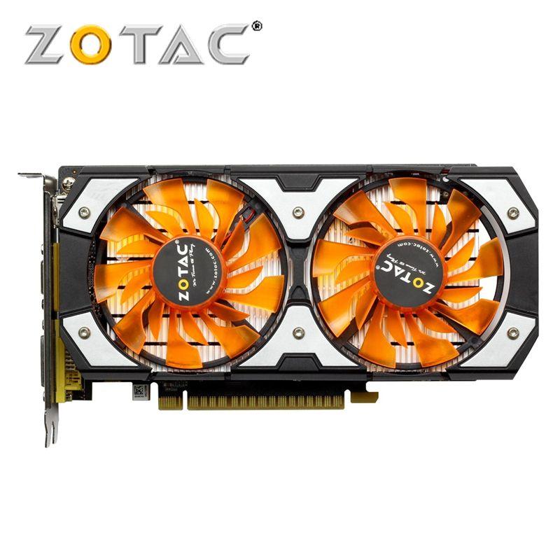 ZOTAC Carte Vidéo GTX 750Ti-2GD5 GDDR5 Cartes Graphiques Pour nVIDIA D'origine GeForce GTX750 Ti 2 gb Tonnerre édition TSI PA PB Hdmi