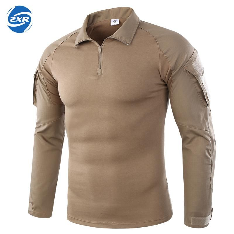 Men's Shirts Outdoor Hiking shirts Military Tactical Shirt Men Camouflage Shirt For Shooting Hunting Plus Size