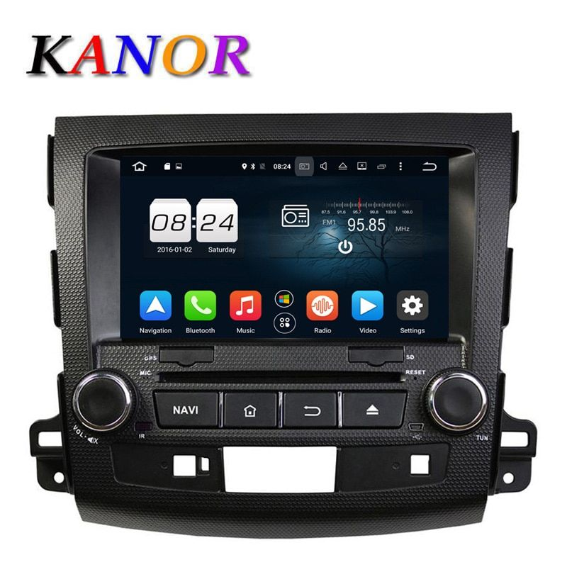 KANOR 1024*600 4G Octa base Android 6.0 Voiture Lecteur DVD pour Mitsubishi Outlander 06-12 Headunit GPS Navigation 2 Din Voiture stéréo