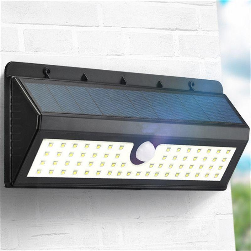 800LM 62 LED Garden Light LED Solar Light Outdoor PIR Human Body Motion Sensor Waterproof IP65 Emergency Wall Lamp 8W