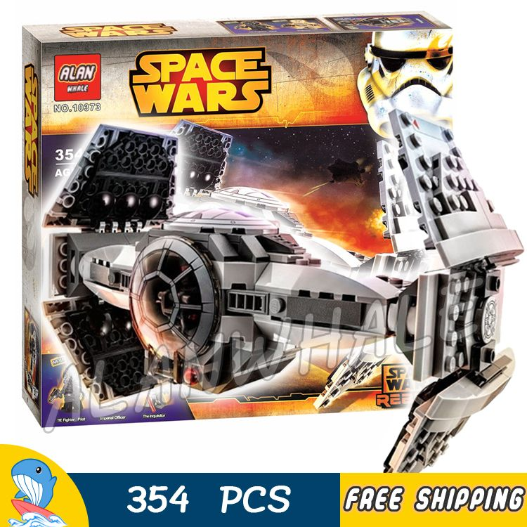 354pcs Space Wars The Force Awakens TIE Advanced Prototype 10373 Model Building Blocks Toys Kit Set Bricks Compatible With Lego