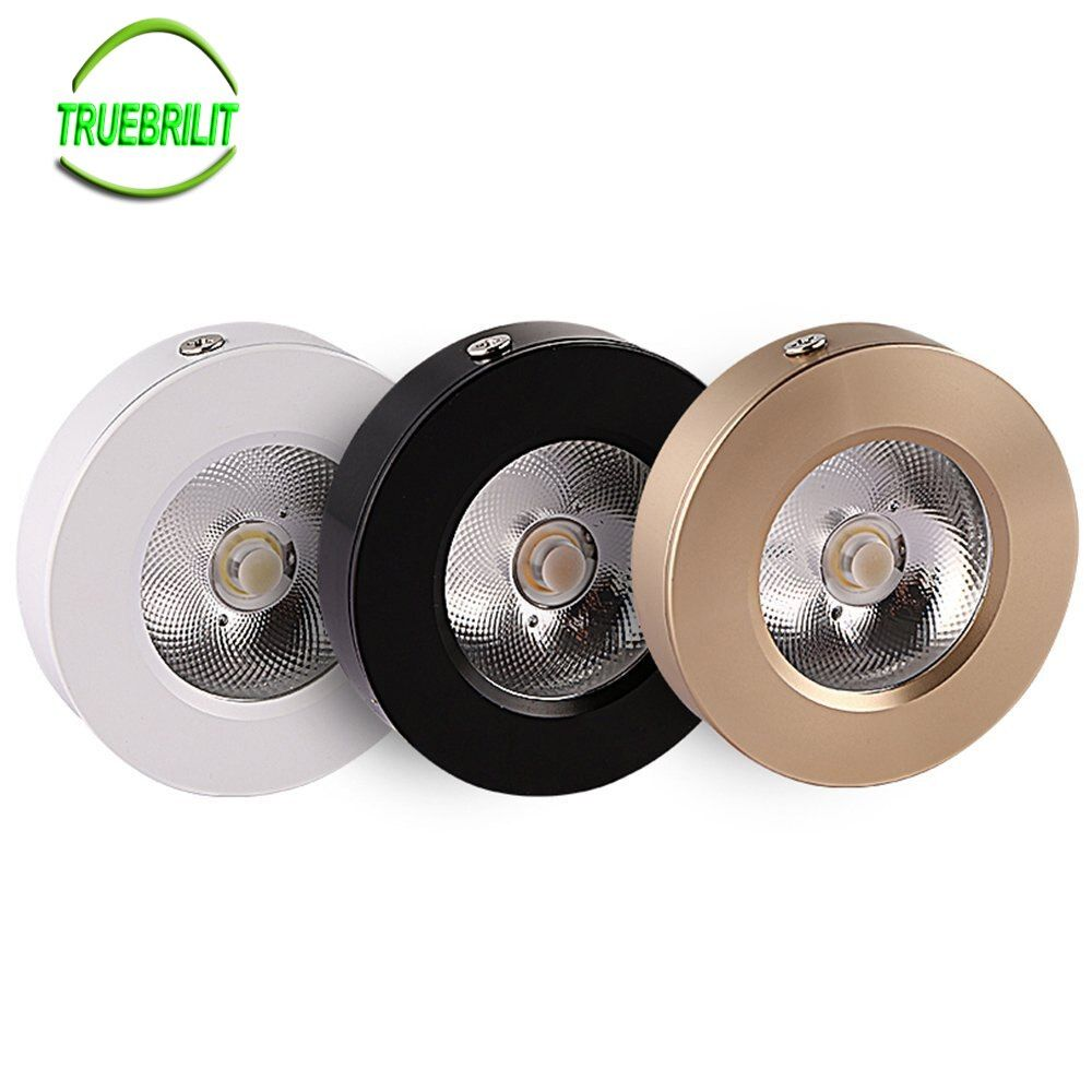 LED Surface Mounted Downlights 3W 5W 7W Panel lamps Cabinet Showcase Down Lights COB Spot Ceiling 220V 240V