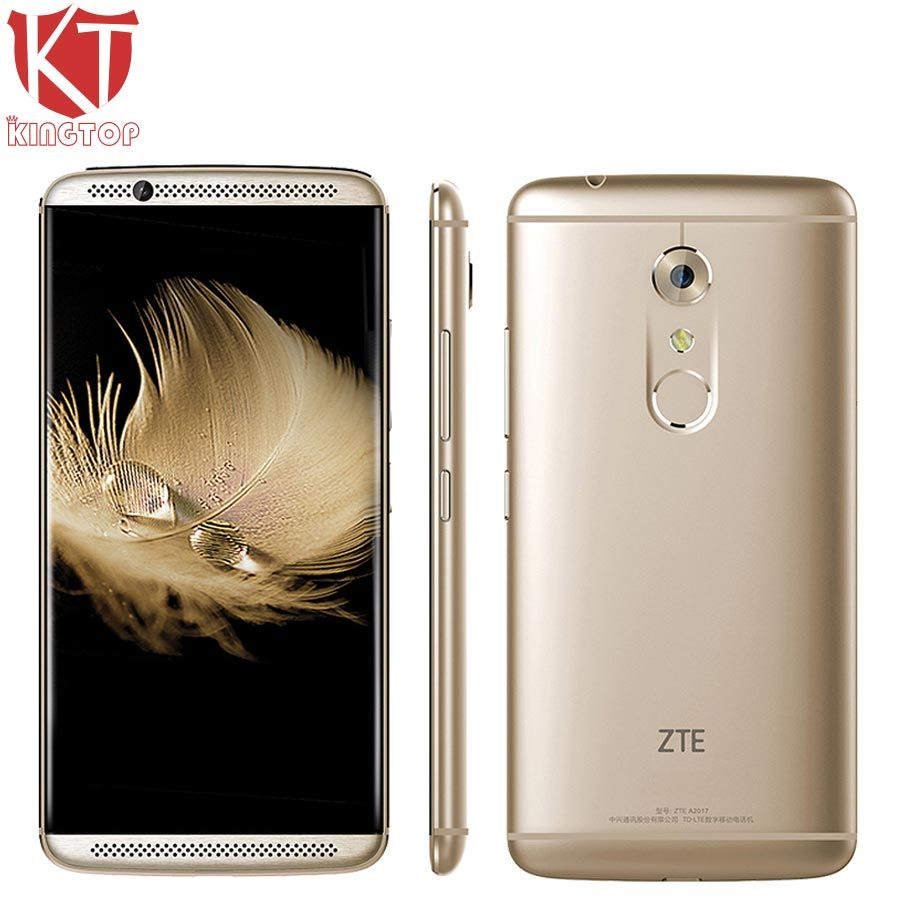 Original ZTE Axon 7 A2017 Mobile Phone Snapdragon 820 Quad Core 4GB RAM 128GB ROM 5.5 inch 2560*1440px 20MP Fingerprint NFC OTG
