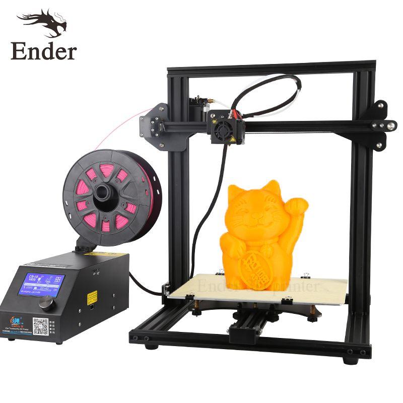 High Precision CR-10 Mini 3D printer DIY KiT Prusa i3 Large Print Size 300*220*300mm Printer 3D n Filament+Hotbed Creality 3D