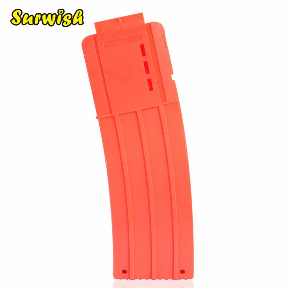 Surwish 15 Bullets Frosting Soft Bullet Clips for Nerf Toy Gun Ammo Cartridge Dart for Nerf Gun Clips - Orange