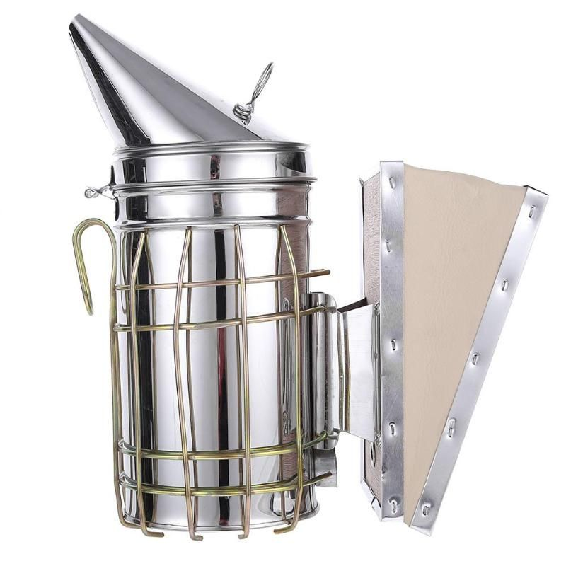Stainless Steel Manual Bee Smoke Transmitter Kit Beekeeping Tool Apiculture Beekeeping Tool Bee Smoker Beekeeping
