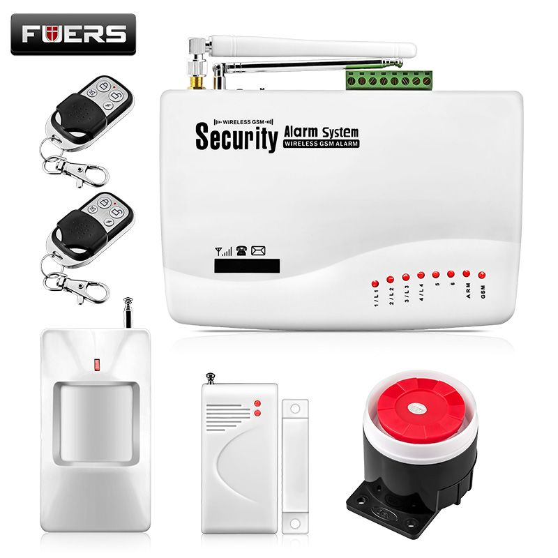 Inalámbrica GSM Sistema de Alarma Para El Hogar Sistema de Alarma de Seguridad Inalámbrica con Sensor de Puerta de Alarma Sistemas de Seguridad Antena Dual GSM10A
