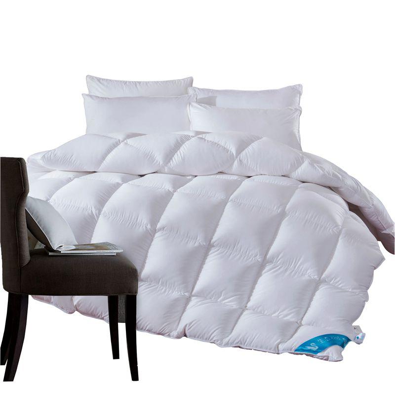 1.3 ~ 4.7 kg d'oie/duvet de canard couette couverture couette pour l'hiver/d'été blanc housse en coton couette Roi reine taille Double rapide libèrent le bateau