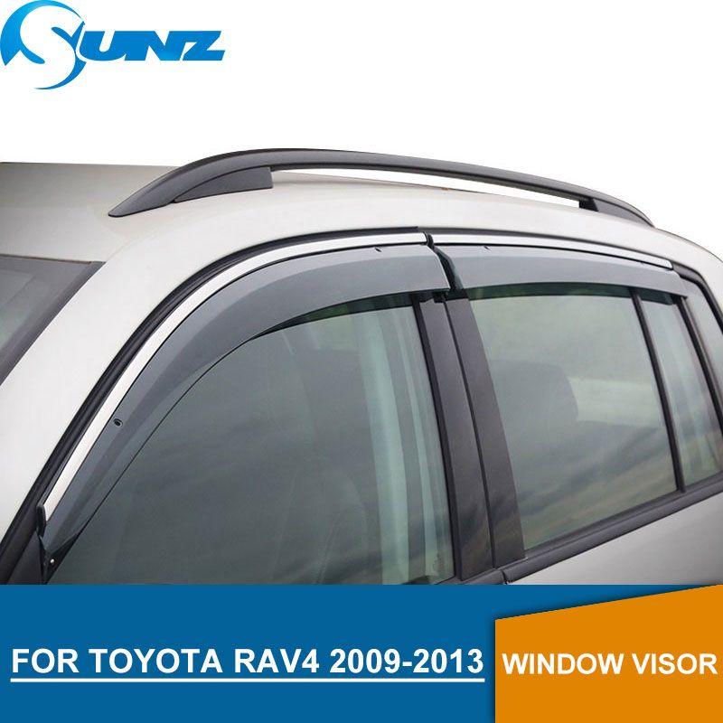 Fenster Visier für TOYOTA RAV4 2009-2013 seite fenster deflektoren regen guards für TOYOTA RAV4 2009-2013 SUNZ