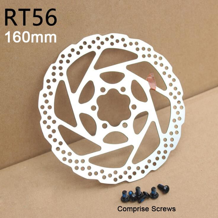 1 PCS Cycling Bicycle Disc Brake Rotor 160mm For MTB Mountain Bike RT5 with 6 Bolts Bike Brake Disc for Road Racing
