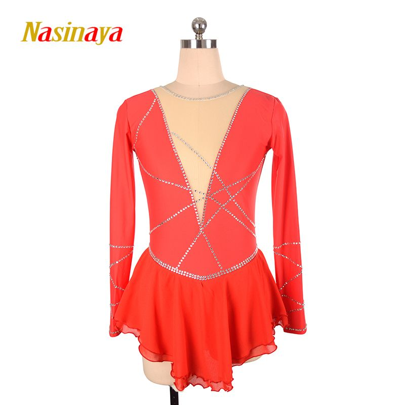 Nasinaya Figure Skating Dress Customized Competition Ice Skating Skirt for Girl Women Kids Patinaje Gymnastics Performance 60