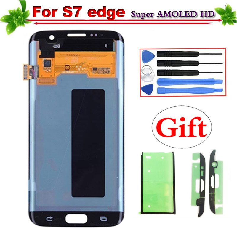 5.5 Replacement Super AMOLED for Samsung galaxy S7 S7 edge G930 G930F G935 G935F LCD Display Touch Screen Digitizer Assembly