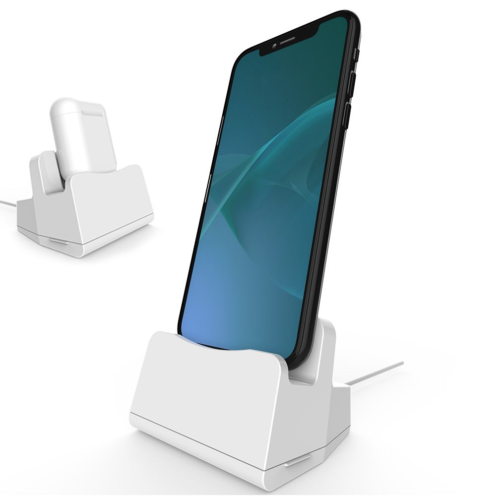 For iPhone charging dock station desk mobile support Charger for mobile phone Holder For Airpods stand table base