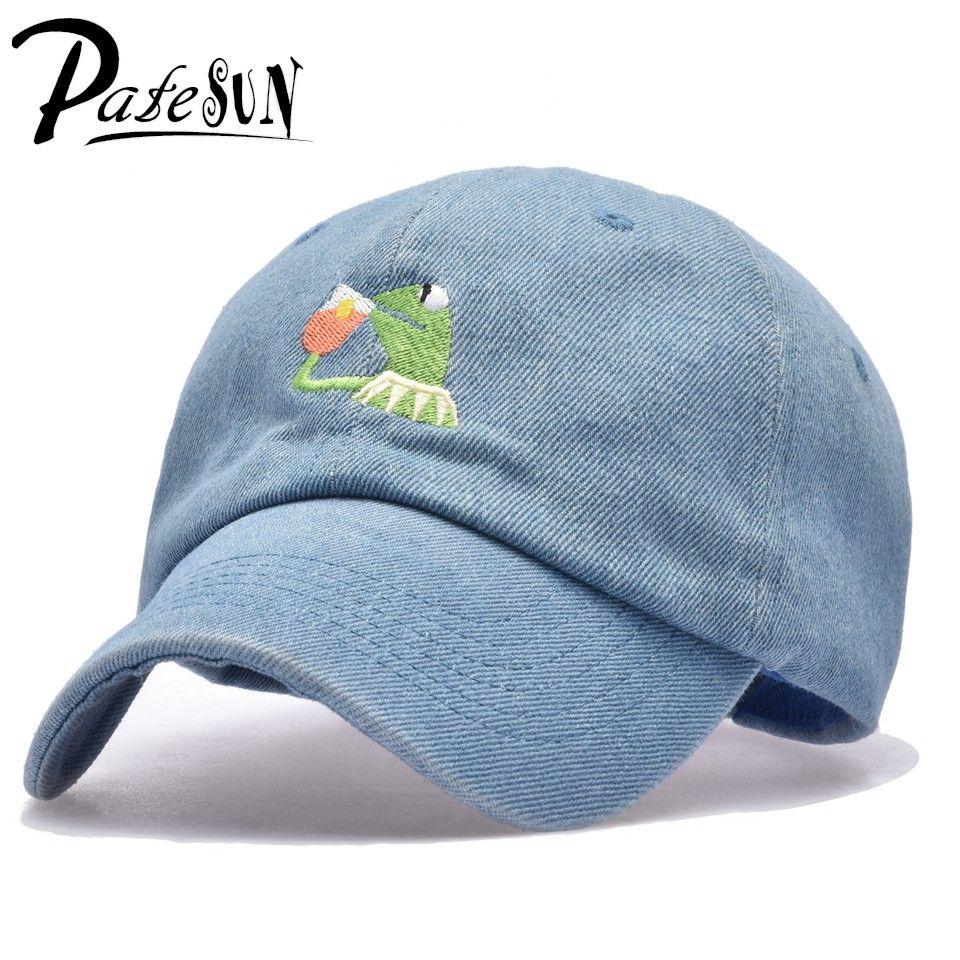 Frog Tea Snapback Kermit None Of My business Dad Hat Lerbon James casquette kenye Big Daddy hat Men Women Girl's Baseball cap