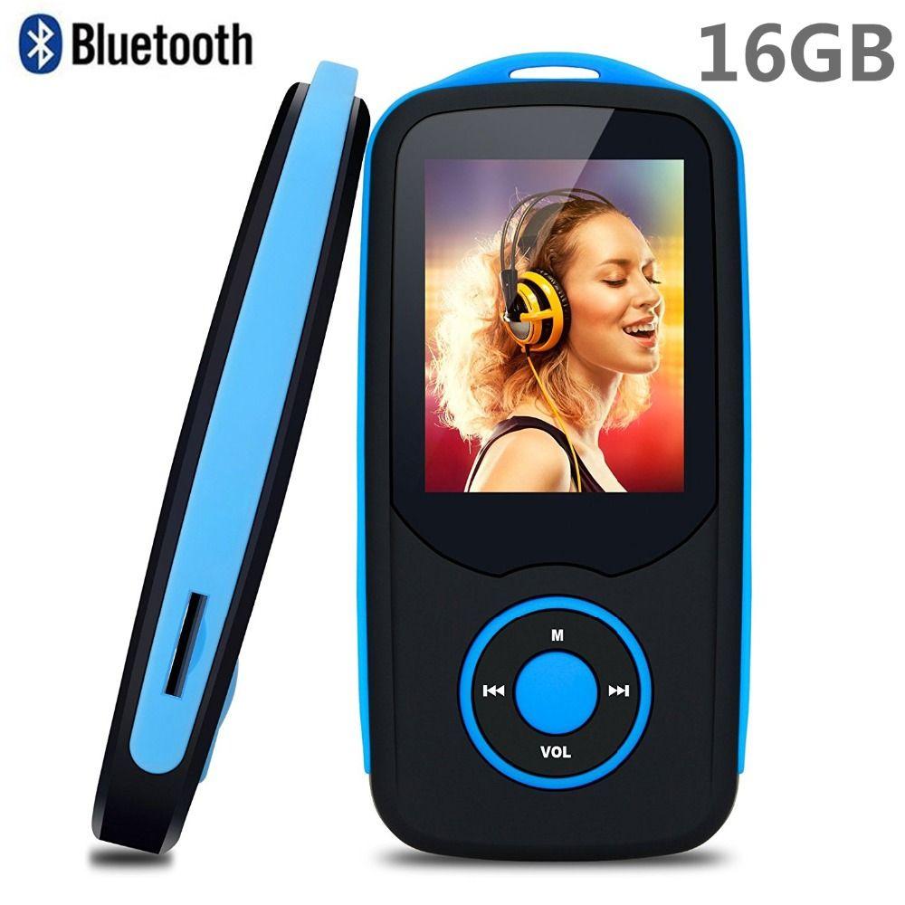 2018 Nouveau D'origine RUIZU X06 16 gb Bluetooth4.0 MP3 Musique Lecteur 1.8 pouce Couleur Menu Écran Sans Perte Walkman avec FM radio, record