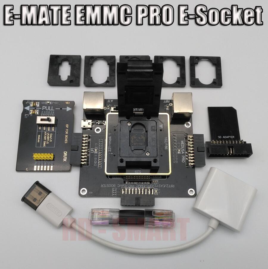 E-MATE box Emate box E-Buchse 6 in 1 Kein schweißen BGA169E BGA162 BGA221 unterstützung Medusa Pro box/UFI/ATF/EINFACH JTAG Stecker/RIFF BOX