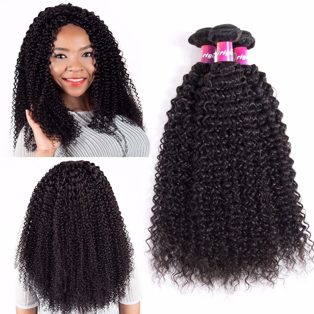 Originea Brazilian Kinky Curly Weave Remy Human Hair Extensions 3 Bundles For Salon Remy Human Hair Afro Kinky Curly Extensions